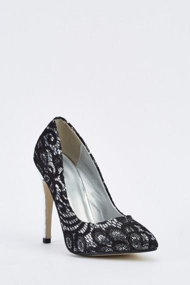 Pantofi cu toc 635667-258296 Auriu