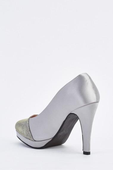 Pantofi cu toc 634952-256870 Auriu
