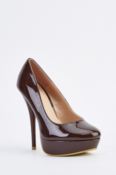Pantofi cu toc 634647-256250 Maro