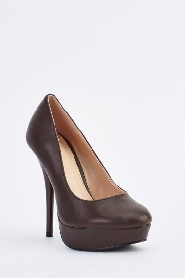 Pantofi cu toc 634644-256243 Maro
