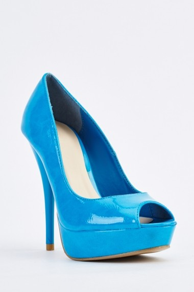 Pantofi cu toc 634649-256252 Albastru