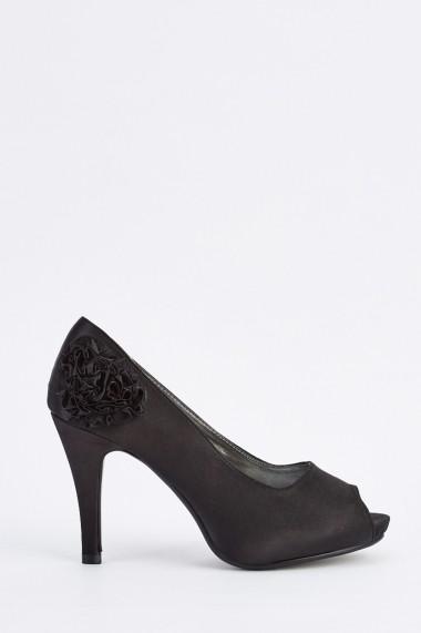 Pantofi cu toc 634425-255818 Negru