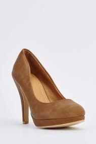 Pantofi cu toc 633849-254758 Kaki