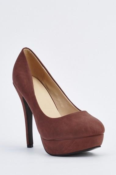 Pantofi cu toc 633848-254757 Maro