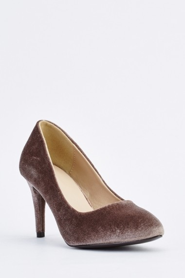 Pantofi cu toc 633844-254751 Kaki
