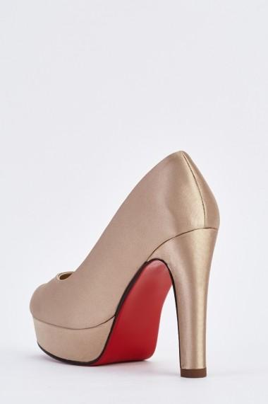 Pantofi cu toc 633557-254303 Bej - els
