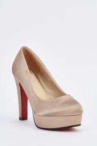 Pantofi cu toc 633557-254303 Bej