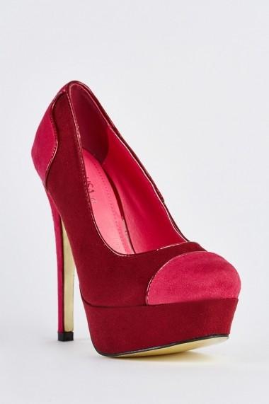 Pantofi cu toc 632976-253249 Fuchsia