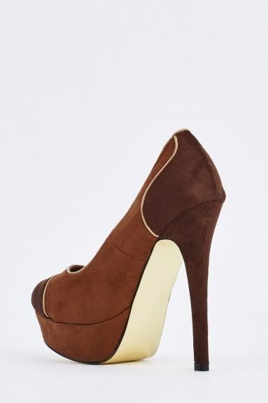 Pantofi cu toc 632963-253226 Maro