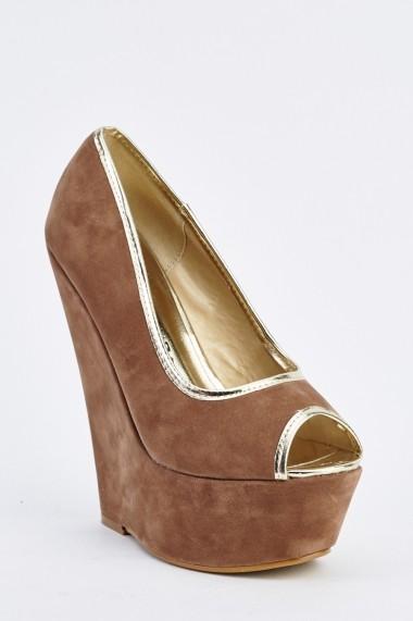 Pantofi cu toc 632448-252209 Maro