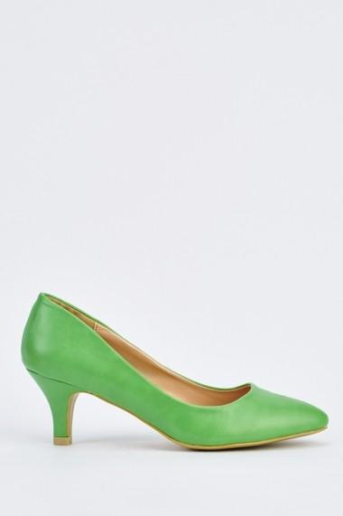 Pantofi cu toc 632248-251797 Verde