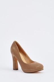 Pantofi cu toc 631921-251214 Maro