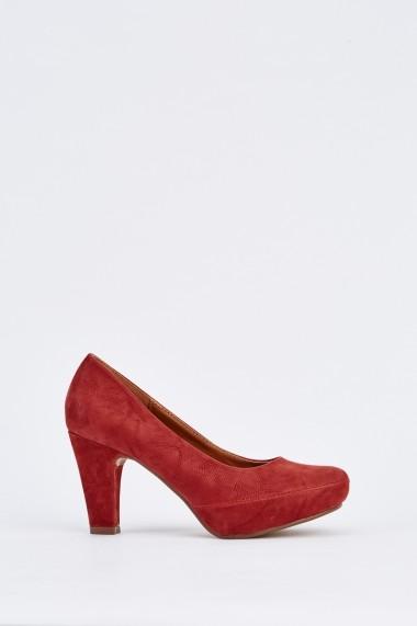 Pantofi cu toc 631939-251236 Bordo