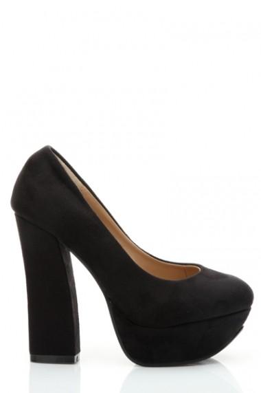 Pantofi cu toc 26319-78951 Kaki