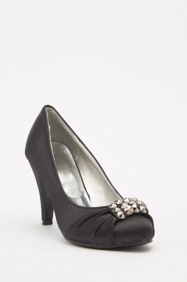 Pantofi cu toc eOutlet 652282-292059-38 Negru