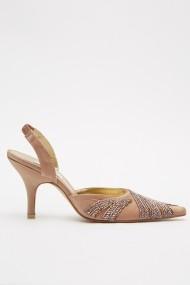 Pantofi cu toc eOutlet 652871-293150-272 Maro