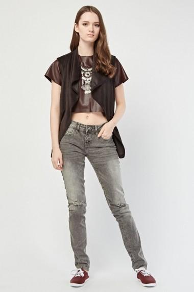 Jeansi skinny eOutlet 653565-294305-6906 Gri