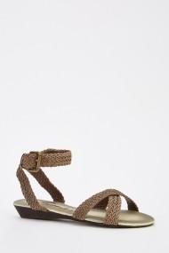 Sandale plate 628227-243920 Gri-bej
