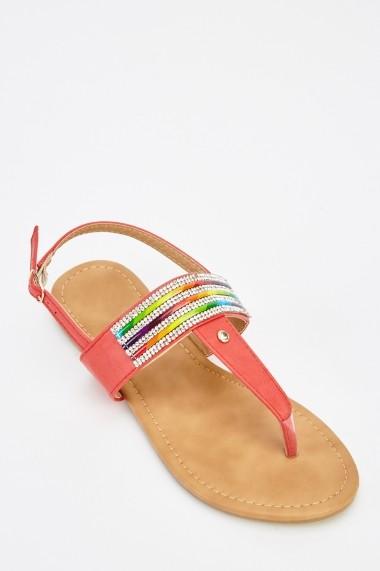 Sandale plate 626615-240878 Negru