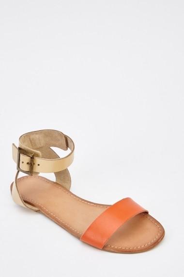 Sandale plate 627287-242037 Portocaliu