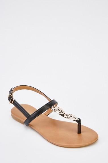 Sandale plate 628673-244729 Rosu