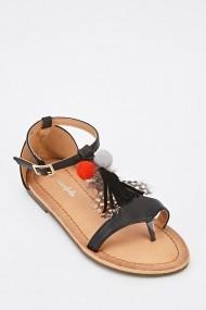 Sandale plate 628403-244230 Negru