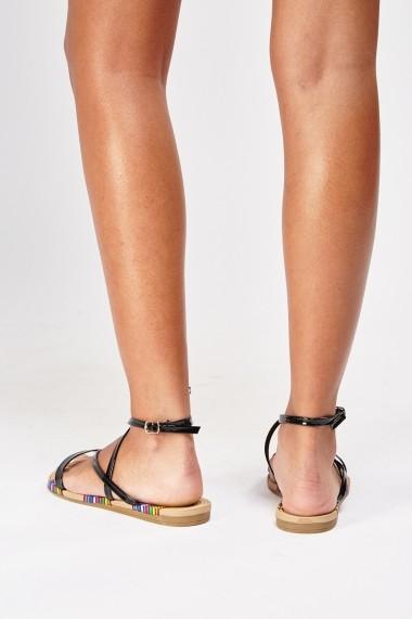 Sandale plate 627920-243296 Negru
