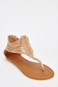 Sandale plate 626600-240859 Bej