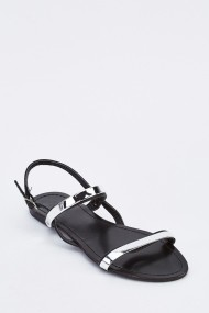 Sandale plate 636714-260353 Negru
