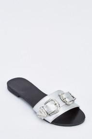 Sandale plate 636198-259347 Argintiu