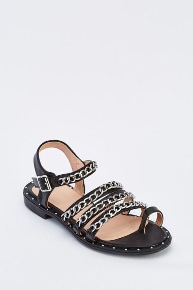 Sandale plate 636184-259316 Negru
