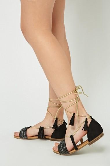 Sandale plate 635961-258899 Negru