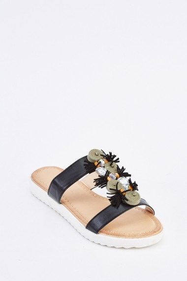 Sandale plate 635200-257336 Negru
