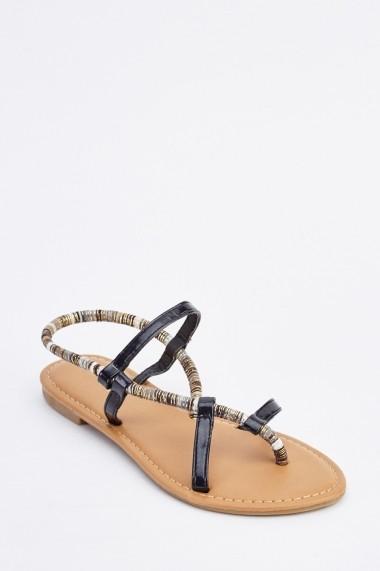 Sandale plate 634958-256887 Negru