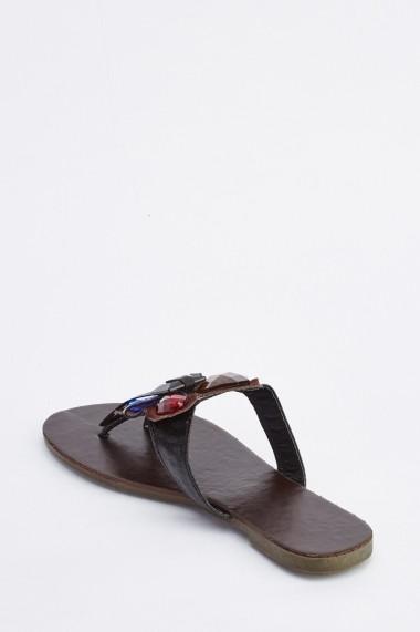 Sandale plate 634661-256285 Negru