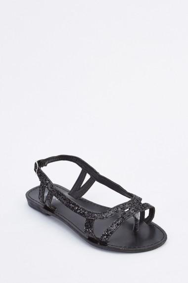 Sandale plate 634394-255765 Negru