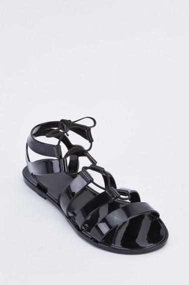 Sandale plate 633585-254342 Negru