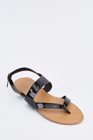 Sandale plate 632730-252814 Negru