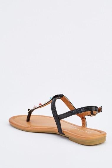 Sandale plate 632762-252860 Negru