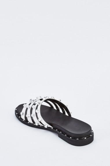 Sandale plate 637638-262331 Alb