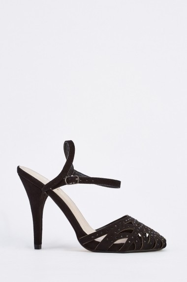 Sandale cu toc 632791-252904 Negru