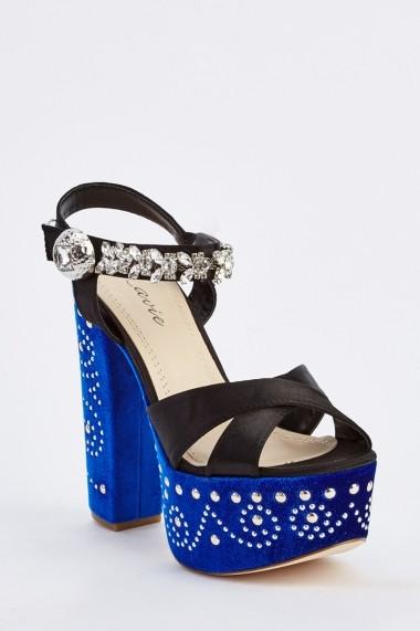 Sandale cu toc 632466-252246 Albastru