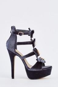 Sandale cu toc 632255-251824 Gri