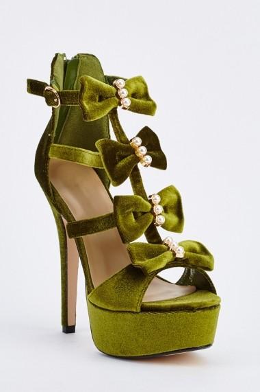 Sandale cu toc 632255-251822 Verde