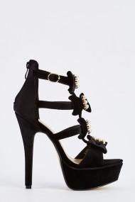 Sandale cu toc 632255-251821 Negru