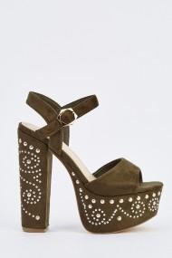 Sandale cu toc 632243-251783 Verde