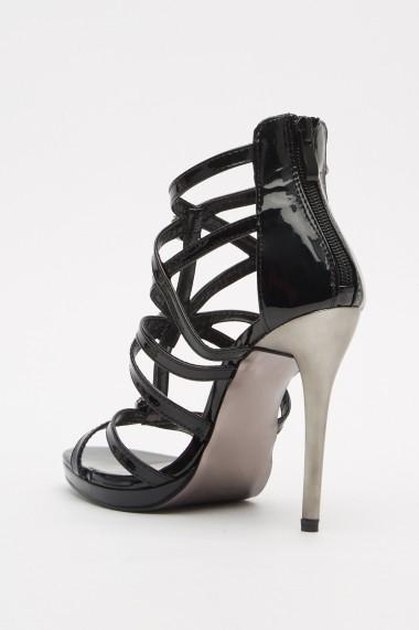 Sandale cu toc eOutlet 652898-293196-140980 Negru