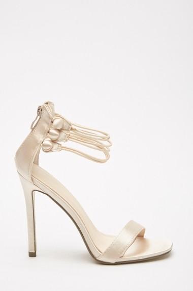 Sandale cu toc eOutlet 653124-293549-154898 Auriu