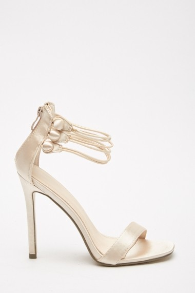 Sandale cu toc eOutlet 653124-293550-270 Argintiu