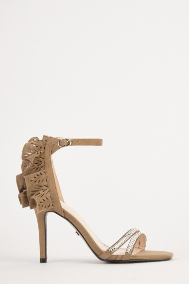 Sandale cu toc eOutlet 654231-295513-154898 Kaki